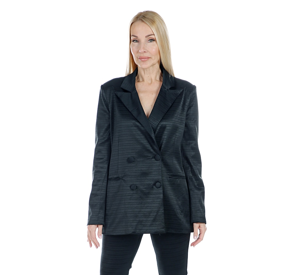 Image 408108_BLK.jpg , Product 408-108 / Price $239.99 , Hilary MacMillan Boyfriend Double Breasted Blazer from Hilary MacMillan on TSC.ca's Fashion department