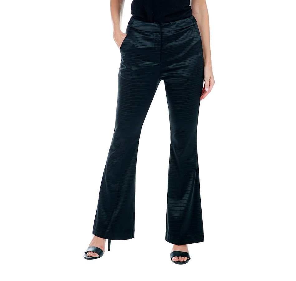 Image 408109_BLK.jpg , Product 408-109 / Price $195.00 , Hilary MacMillan Flared Hem Pants from Hilary MacMillan on TSC.ca's Fashion department