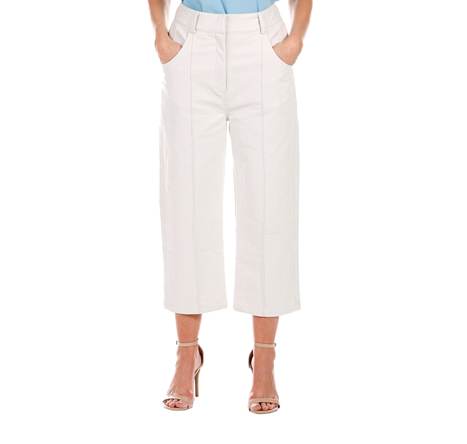 Image 408115_WHT.jpg , Product 408-115 / Price $205.00 , Hilary MacMillan Snakeskin Cropped Pant from Hilary MacMillan on TSC.ca's Fashion department