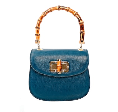 Ron White Laurel Leather Bamboo Top Handle Satchel
