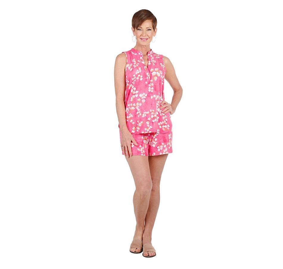 Image 408515_PCO.jpg , Product 408-515 / Price $44.33 , N Natori Cherry Blossom Tank Short PJ Set from N Natori Fashion on TSC.ca's Fashion department