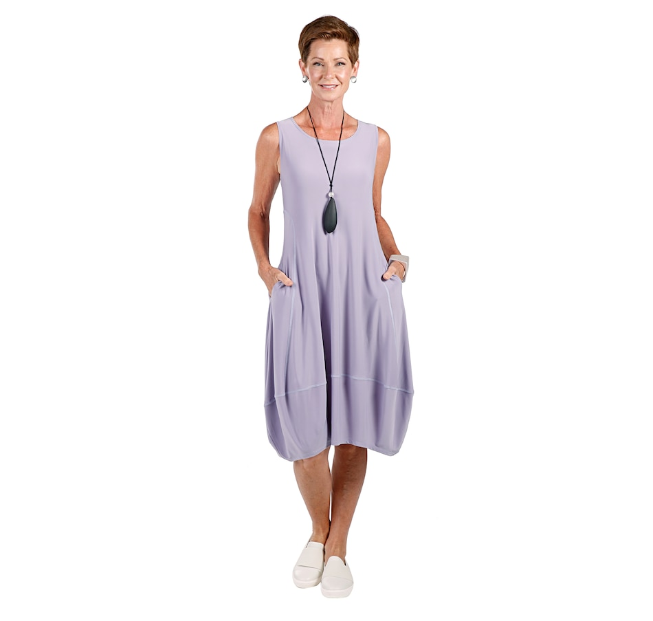 Image 408591_DUK.jpg , Product 408-591 / Price $89.90 , MarlaWynne Solid Knit Sleeveless Balloon Dress from MarlaWynne on TSC.ca's Fashion department
