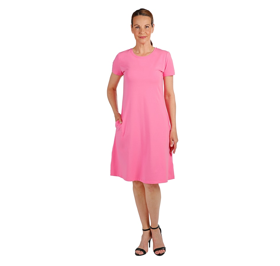 Image 408731_BRPN.jpg , Product 408-731 / Price $29.88 , Isaac Mizrahi Live! Swing Dress with Pockets from Isaac Mizrahi Live! on TSC.ca's Fashion department