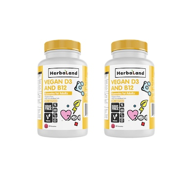 Herbaland Vegan D3 and B12 Duo (180-Day Auto-Delivery)