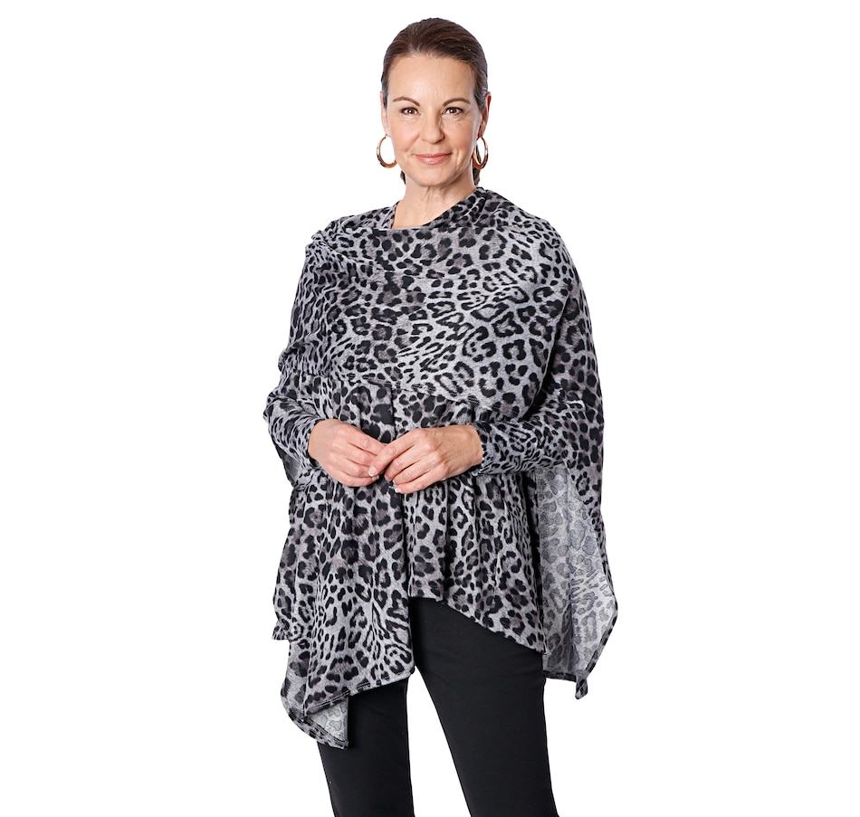 Image 409028_ANP.jpg , Product 409-028 / Price $49.99 , Kim & Co. Soft Touch Sweater Knit Cape from Kim & Co. on TSC.ca's Fashion department