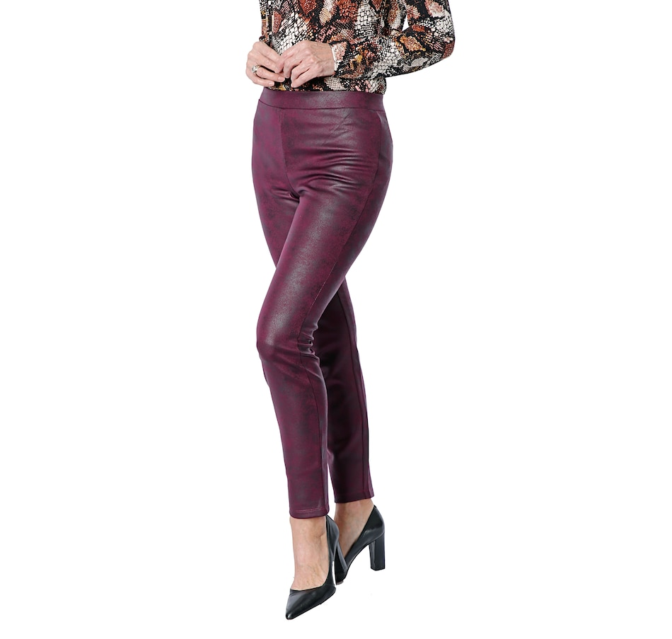 Image 409259_CRIBY.jpg , Product 409-259 / Price $24.33 , Nina Leonard Coated Pleather Trouser from Nina Leonard on TSC.ca's Fashion department