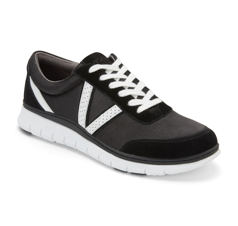 Image 409325_BLK.jpg , Product 409-325 / Price $169.95 , Vionic Fresh Nana Satin Lace Up Sneaker from Vionic on TSC.ca's Shoes & Handbags department