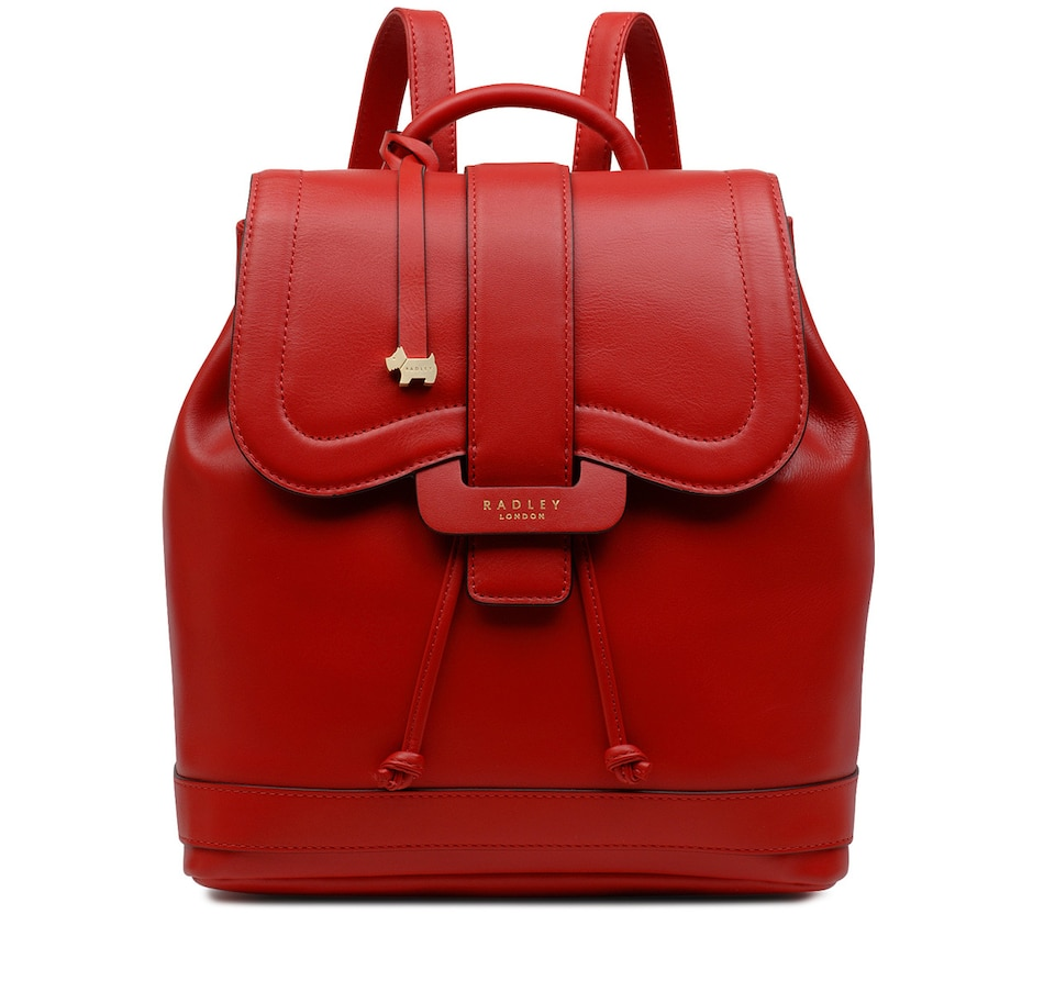 Image 409447_RED.jpg , Product 409-447 / Price $369.99 , Radley London Devonport Mews Medium Leather Flapover Backpack from Radley London on TSC.ca's Shoes & Handbags department
