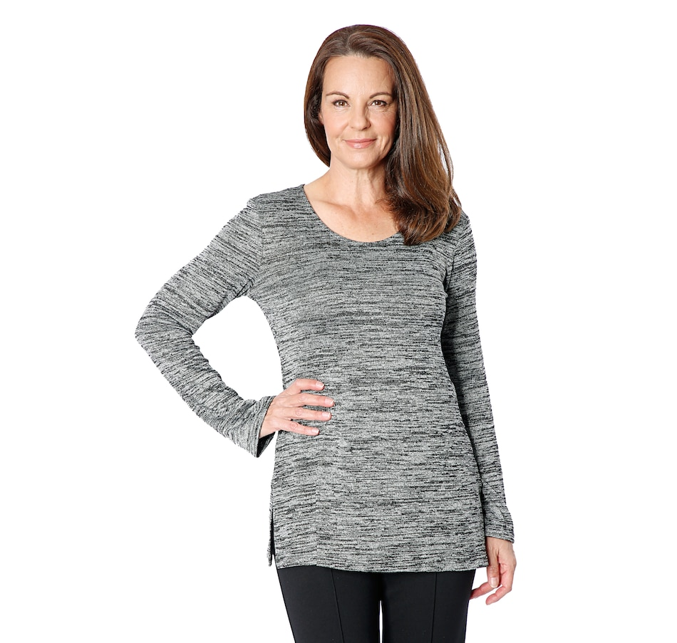 Image 409636_GRY.jpg , Product 409-636 / Price $12.33 , Mr. Max Diagonal Stripe Knit Tunic from Mr. Max on TSC.ca's Clothing & Shoes department