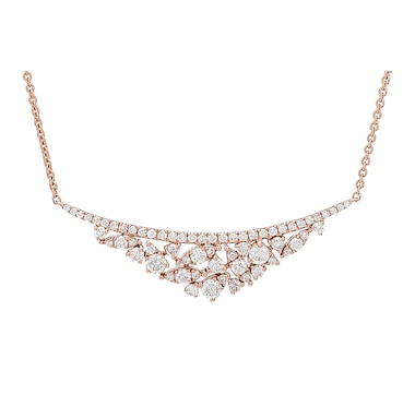 LUXLE Jewellery 14K Gold Diamond Tiara Necklace