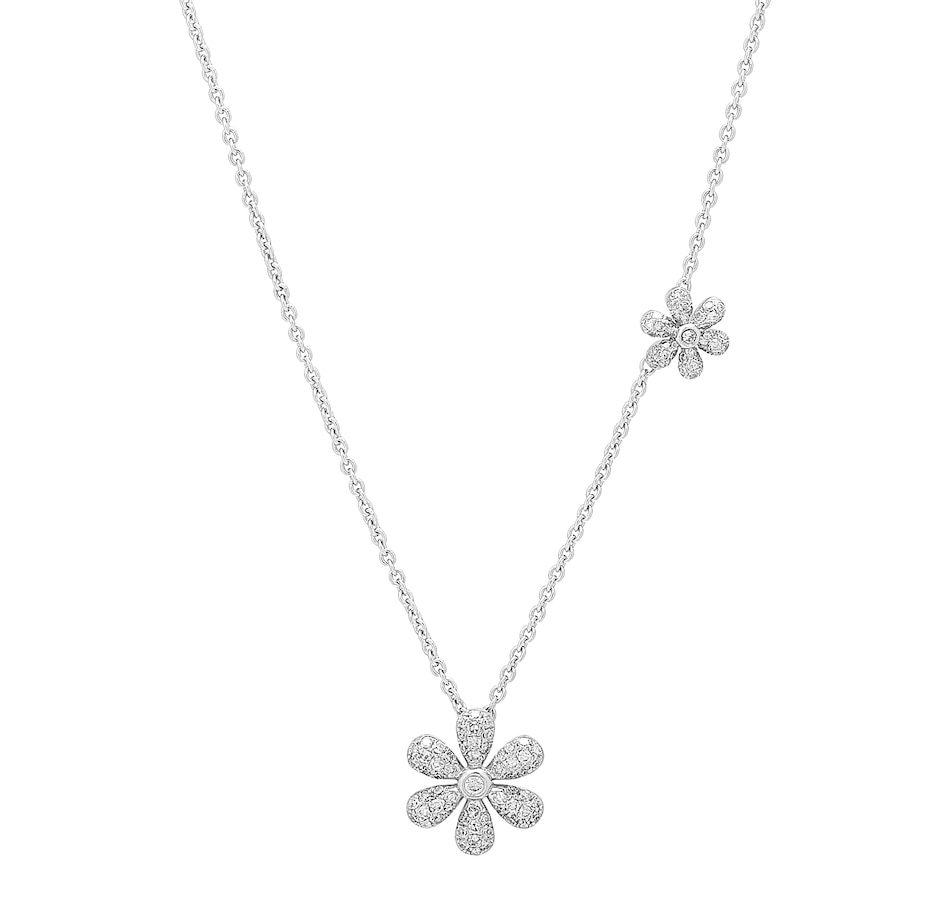 Image 409718.jpg , Product 409-718 / Price $749.88 , LUXLE Jewellery 14K White Gold Diamond Petals Necklace from LUXLE Jewellery on TSC.ca's Jewellery department