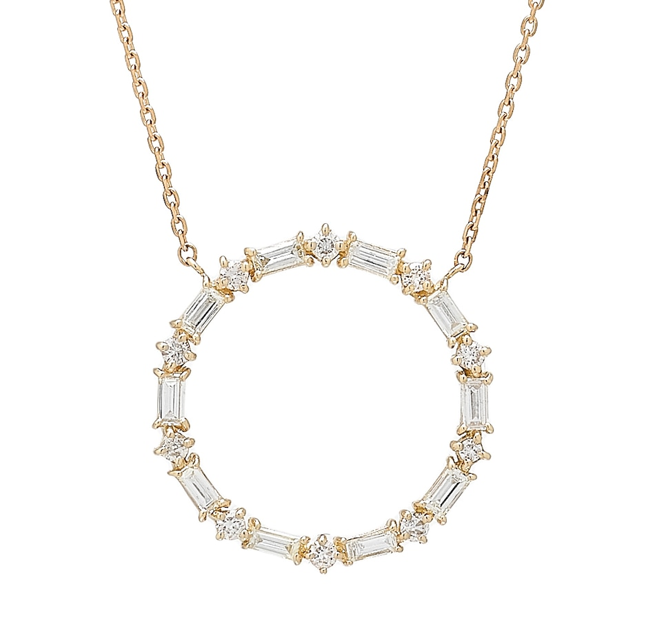 Image 409724_YGL.jpg , Product 409-724 / Price $1,279.88 , LUXLE Jewellery 14K Yellow Gold Diamond Circle of Life Necklace from LUXLE Jewellery on TSC.ca's Jewellery department