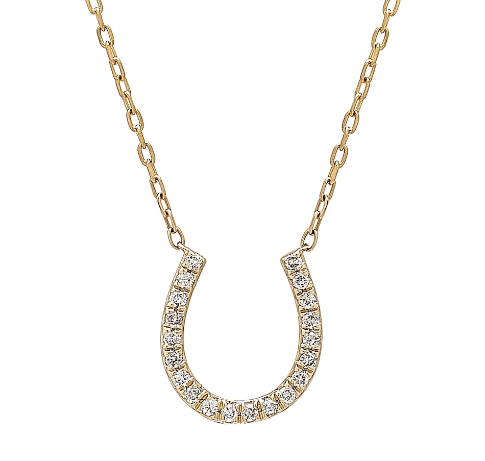 Image 409725_YGL.jpg , Product 409-725 / Price $599.88 , LUXLE Jewellery 14K Yellow Gold Horseshoe Necklace from LUXLE Jewellery on TSC.ca's Jewellery department