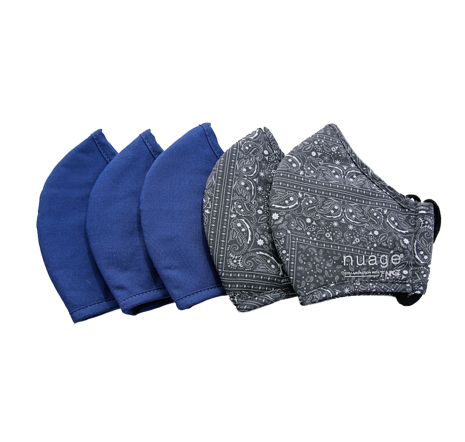Image 409916_BDANV.jpg , Product 409-916 / Price $19.99 , Nuage Reusable Kids Masks 5-Pack from Nuage on TSC.ca's Fashion department