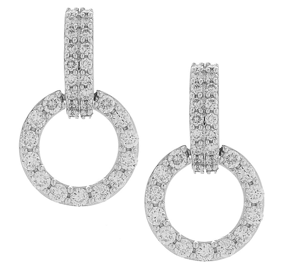 Image 420921.jpg , Product 420-921 / Price $2,099.99 , Inspire Diamonds 14K White Gold 1.52ctw Diamond Dangle Circle Earrings from Inspire Diamonds on TSC.ca's Jewellery department