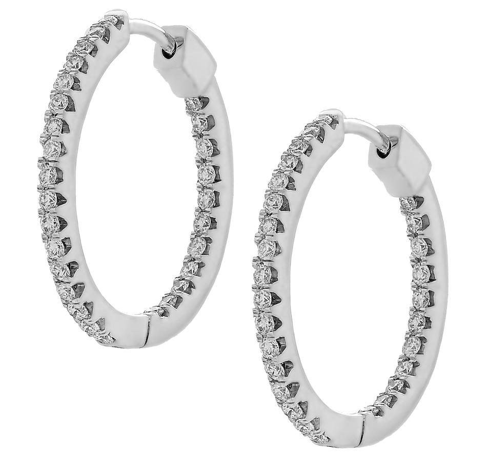 Image 420922.jpg , Product 420-922 / Price $2,399.99 , Inspire Diamonds 14K White Gold Diamond Hoop Earrings from Inspire Diamonds on TSC.ca's Jewellery department