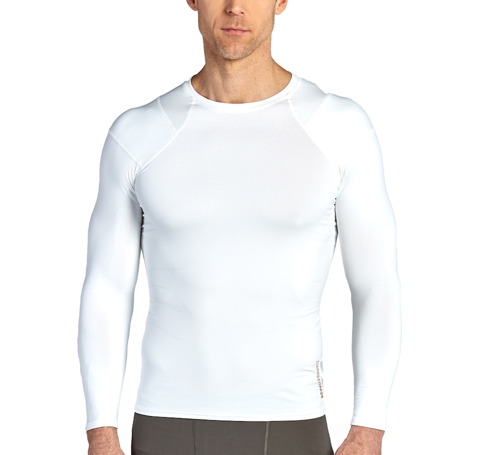 Image 420974_WHT.jpg , Product 420-974 / Price $169.99 , Tommie Copper Pro-Grade Long Sleeve Shoulders Support Shirt from Tommie Copper on TSC.ca's Health & Fitness department