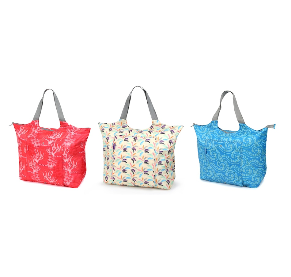 Image 438538_BRT.jpg , Product 438-538 / Price $39.99 , California Innovations Jumbo Market Totes (Set of 3) from California Innovations on TSC.ca's Clothing & Shoes department