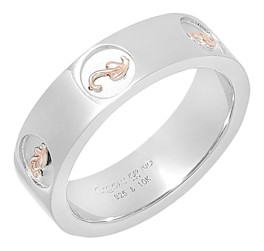 Clogau Gold Sterling Silver and 10K Gold Tree of Life Insignia Ring