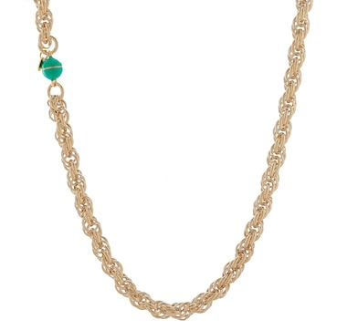 Bronzoro 18K Gold Plate Rope Chain Necklace With Magnetic Closure