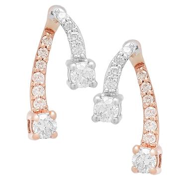 10K Gold 0.25ctw Diamond Earrings