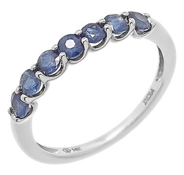 14K Gold 0.85ctw Blue Sapphire Ring