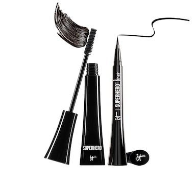 IT Cosmetics Superhero Elastic Stretch Volumizing Mascara & Superhero Liner - Waterproof Liquid Eyeliner