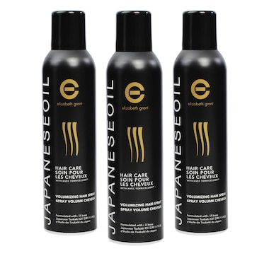 Elizabeth Grant Japanese Oil Haircare Volumizing Hairspray Trio