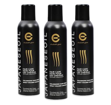 Elizabeth Grant Japanese Oil Haircare Volumizing Hairspray Trio