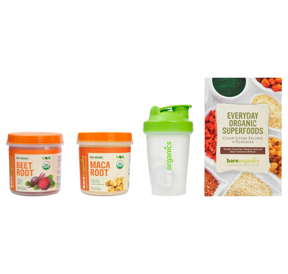 Image 447614_ENR.jpg , Product 447-614 / Price $46.50 , Bare Organics Superfood Power Bundle Energy from BAREORGANICS on TSC.ca's Health & Fitness department