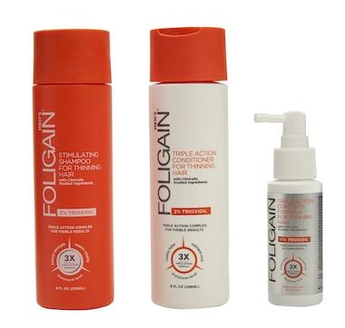 Foligain Triple Action Hair Care System Full Size Bundle