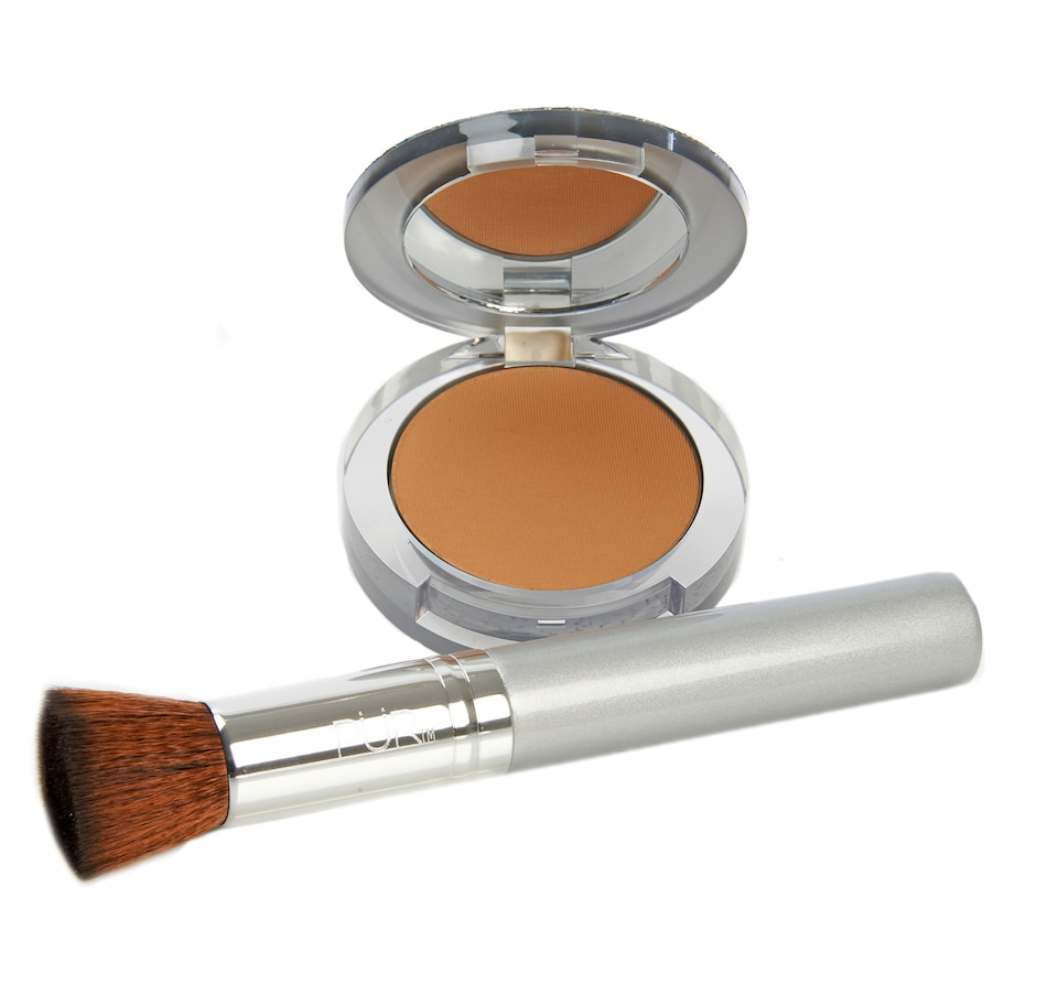 Image 448056_TN.jpg , Product 448-056 / Price $64.00 , Pür 4-in-1 Pressed Mineral Foundation Limited Edition Bling with Brush from Pür  on TSC.ca's Beauty department