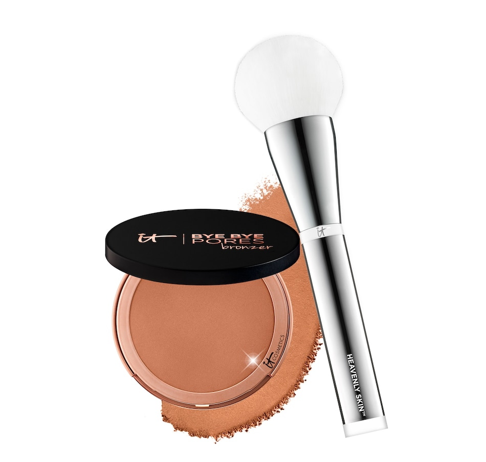 Image 448350.jpg , Product 448-350 / Price $66.60 , IT Cosmetics Bye Bye Pores Bronzer with Brush from It Cosmetics on TSC.ca's Beauty department
