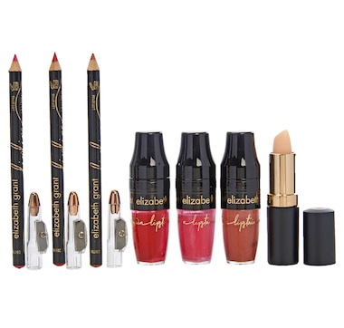 Elizabeth Grant Lipstain Collection with Lip Liners & Moisture Stick