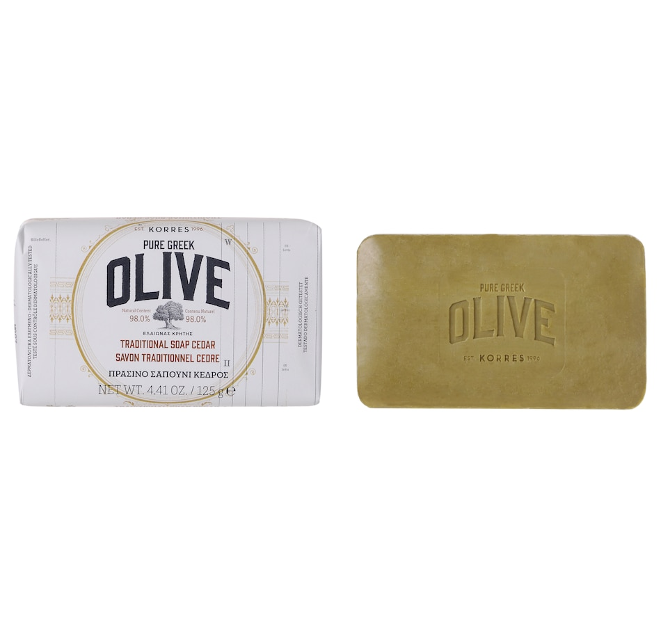 Image 448857.jpg , Product 448-857 / Price $16.00 , KORRES Olive & Cedar Bar Soap from KORRES Natural Products on TSC.ca's Beauty department