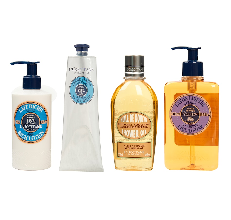 Image 448975_LAV.jpg , Product 448-975 / Price $130.00 , L'Occitane Shea Butter Me Up 4-Piece Collection from L'Occitane on TSC.ca's Beauty department