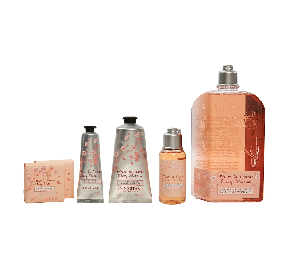 Image 449015_CHBS.jpg , Product 449-015 / Price $49.00 , L'Occitane Home & Go Set Cherry Blossom from L'Occitane on TSC.ca's Beauty department