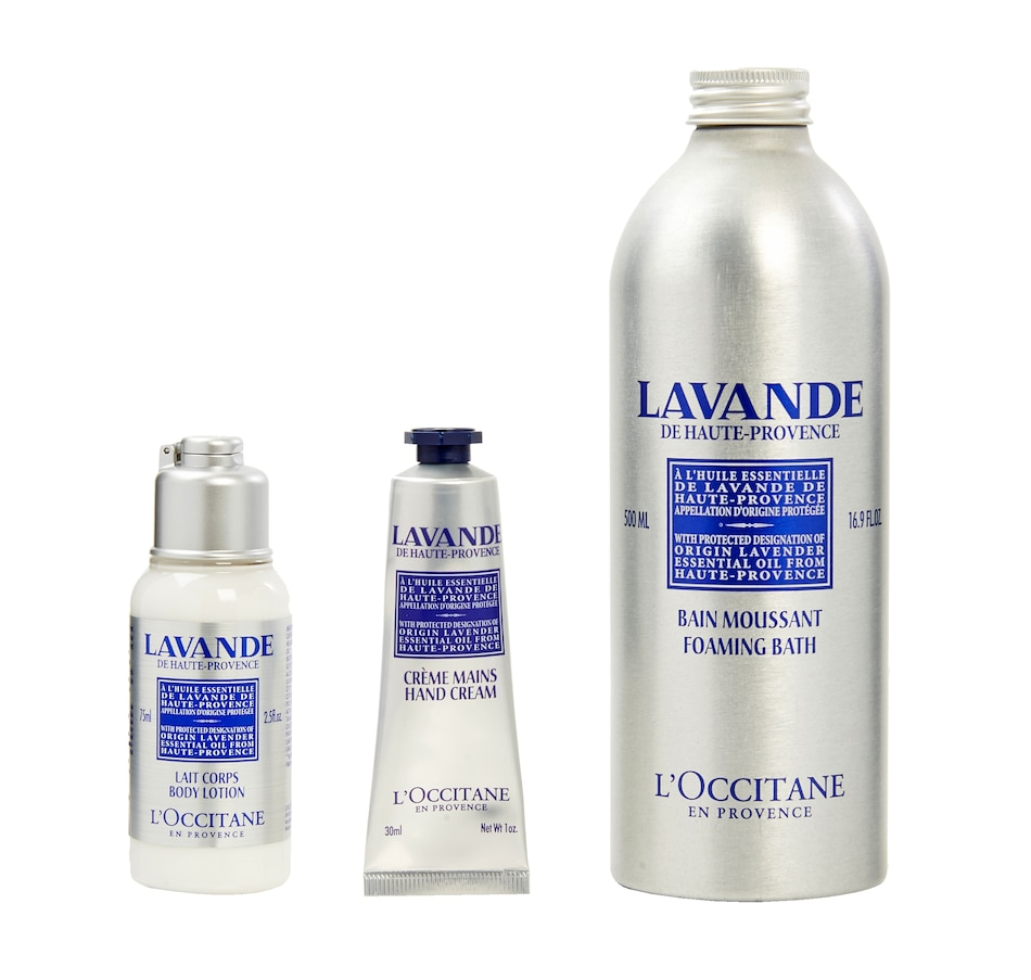 Image 449048.jpg , Product 449-048 / Price $49.00 , L'Occitane Soothing Lavender Self Care Trio from L'Occitane on TSC.ca's Beauty department
