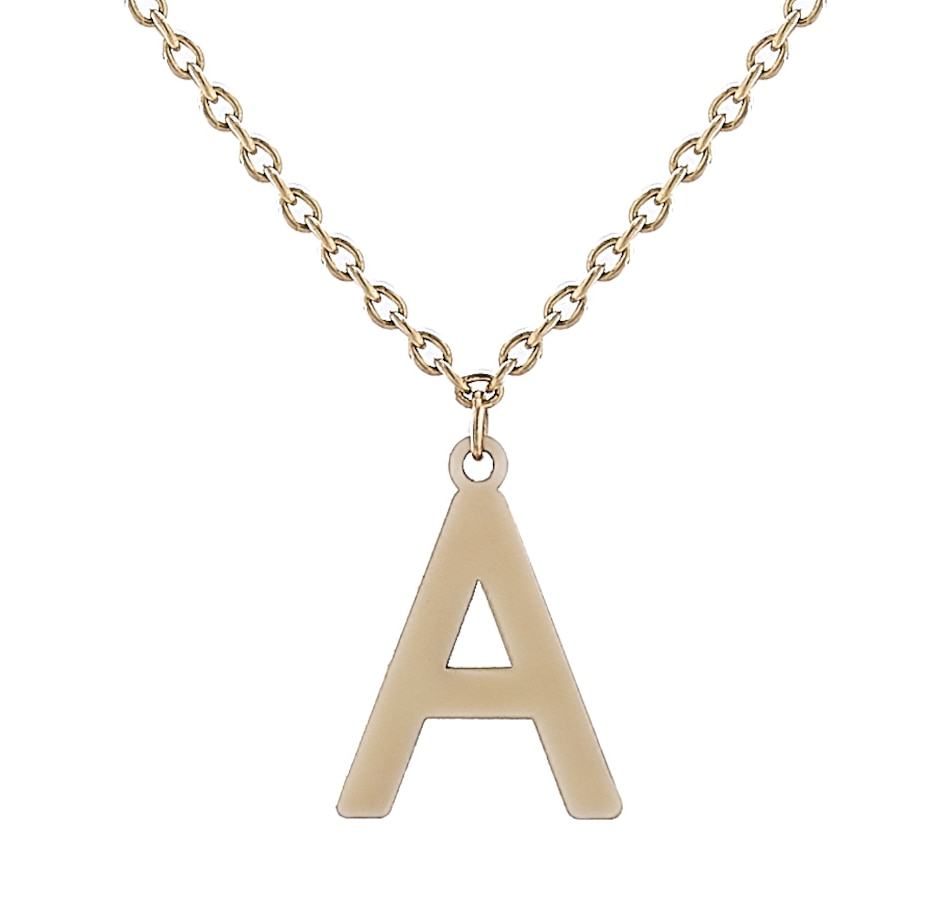 Image 450082_A.jpg , Product 450-082 / Price $279.99 , International Gold 10K Yellow Gold Initial Necklace from International Gold on TSC.ca's Jewellery department