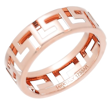 Stefano Oro 14K Gold Greek Key Band Ring