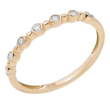 10K Gold Diamond Mini Bubble Ring