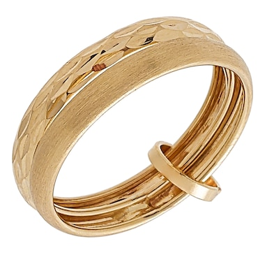 Stefano Oro 14K Yellow Gold Double Stackable Ring