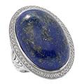 Bague bleu lapis-lazuli sur argent sterling de Dallas Prince