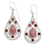 Himalayan Gems Sterling Silver Multi-Gemstone Earrings