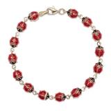 10K Yellow Gold & Enamel Ladybug Bracelet