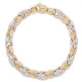"""10K Two-Tone Gold V-Link 7.5"""" Bracelet"""