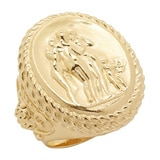 Vicenza Gold Sterling Silver 3 Graces Ring