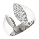 Toscana Diamonelle Sterling Silver Diamonelle Ring