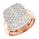 Toscana Diamonelle Sterling Silver 14K Rose Gold Plate Diamonelle Ring