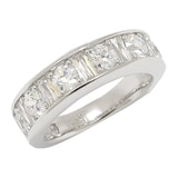 TYCOON for Diamonelle Sterling Silver Half Eternity Ring